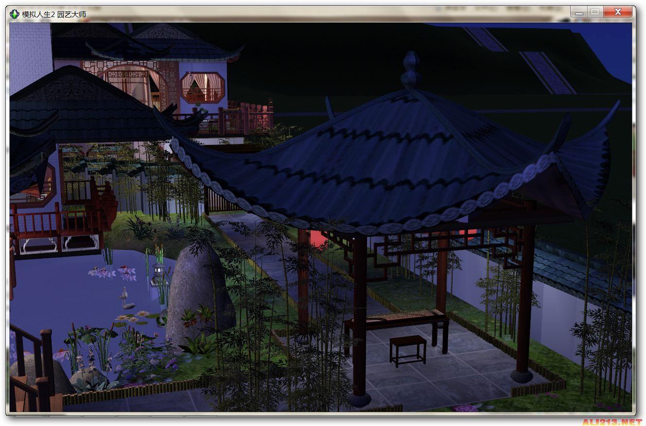 江南古典园林,修订版基本保持了房屋原貌,仅仅加了一圈院墙,加了灯和